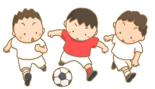 中体連サッカーの試合が行われました。